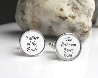Father Of The Bride Wedding Cufflinks, Keepsake Cufflinks For Dad