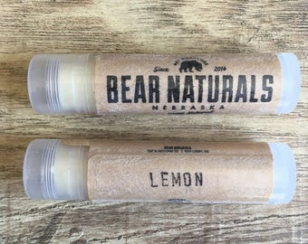 lemon - natural lip balm