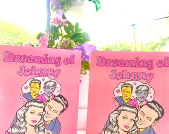 Dreaming of Johnny full color risograph comic