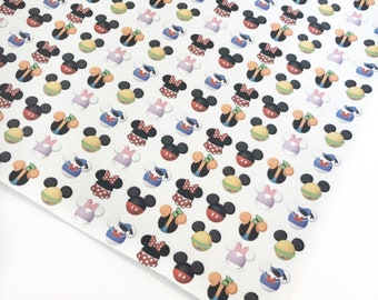 Disney Heads - Custom Faux Leather - 8x11 Sheet – Faux Leather