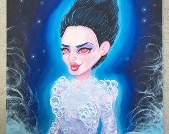 Gozer the Goddess Illustration (Original Painting, Print)