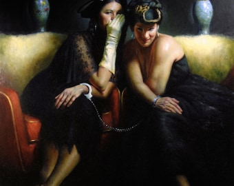 Whispering Sisters - Limited Edition Giclee Print