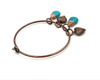 Free Shipping,Copper Bangle Bracelet,copper bracelet,turquoise bracelet,turquoise bangle bracelet,turquoise jewelry,ladies bangle bracelets