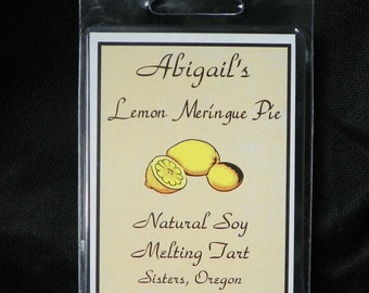 Lemon Meringue Pie Handmade Natural Soy Melting Tart by Abigail's on Main