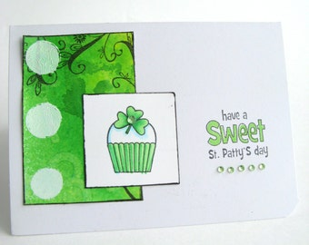 St. Patrick's Day, March 17th, Greeting Card, St. Patrick's Day Card, Green, Shamrock, St. Pat's Day, Irish Greeting Card, Erin Go Bragh
