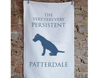 Patterdale Terrier Tea Towel, Patterdale Gift, Patterdale Present, Patterdale Art, patterdale design, patterdale dog, patterdale gifts