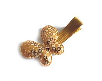 Gold Butterfly Hair Clip Gold Hair Clip Sequin Hair Clip Sequin Butterfly Baby Hair Clip Baby Girl Spring Hair Clip Summer Hair Clip