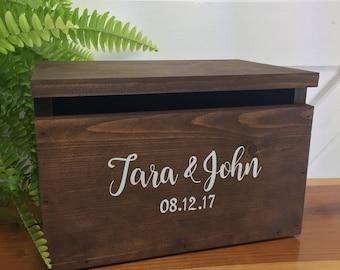 Wood Card Box - Wedding Wooden Card Box - Centerpiece - Graduation Card Box - Bridal Shower Card Box - Bar Bat Mitzvah - Baby Shower