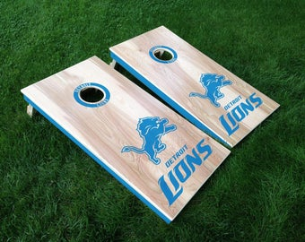 Cornhole decals Detroit Lions, Detroit Tigers, Detroit Red Wings, Michigan State