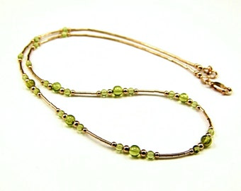 Gorgeous Peridot Gold-Filled Necklace - N850