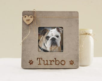 Personalized Pet Picture Frame, Pet Name Frame, Pet Lover Gift Idea, Dog Memory Frame, Engraved Memory Picture Frame