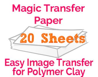 Magic Transfer Paper Set of 20 Sheets The Easiest Polymer Clay Transfer Ever