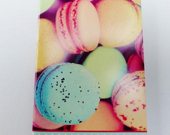 macarons notebook journal with 48 pages A5 format blank pages