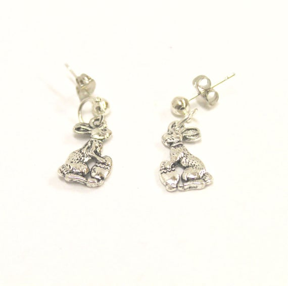 Easter Bunny Rabbit and Egg Earrings, Fun and Quirky Earrings, Easter Egg Jewelry, Gift For Her, Girlfriend Gift, Easter Jewelry