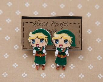 Legend of Zelda Link Inspired Fake Gauge Clinging Earrings