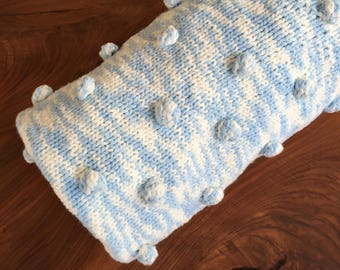 Hand knitted baby blanket for buggy Baby shower gift Boy newborn gift Handmade baby gift Newborn blanket Soft baby blanket for stroller