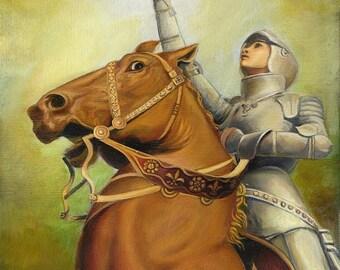 Joan of Arc The Maid of Orléans 16x20 Poster Fine Art Print Medieval Renaissance Warrior Goddess Art