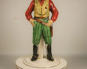Wild Bill Hickok / Schmid Brothers Figurine /  Musical Figurine / Wild West Collectible / Home On The Range Music Box / Wild West