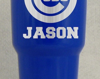 20 30 oz Chicago Cubs YETI RTIC Rambler Cups Custom Personalized World Series