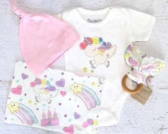 Organic Baby Clothes Baby Boy Gift Box Rocket Ship Baby