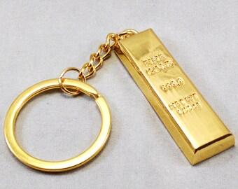 Gold Bar Key Chain