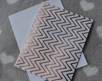 Folded card + envelope zigzag metallic effect