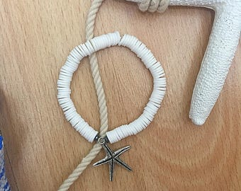 White starfish bracelet