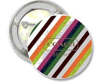 2.25 Inch Pin Back Button - Coach,  - FREE SHIPPING