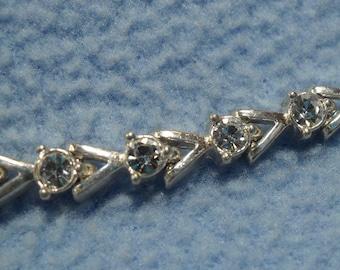 """SALE!!  Beautiful Silver Rhinestone Bracelet-7"""" long (was 10.00)"""