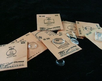 Vintage Plastic Watch Crystals in Original Paper Envelopes - Buy More, Save More - Buy 1, 5, 10, 25 or 100 - BULK