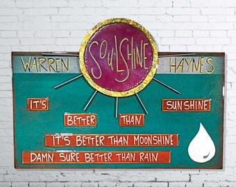 Funky wall art etsy soulshine allman brothers warren haynes 5th anniversary gift lyrics wood sign stopboris Choice Image