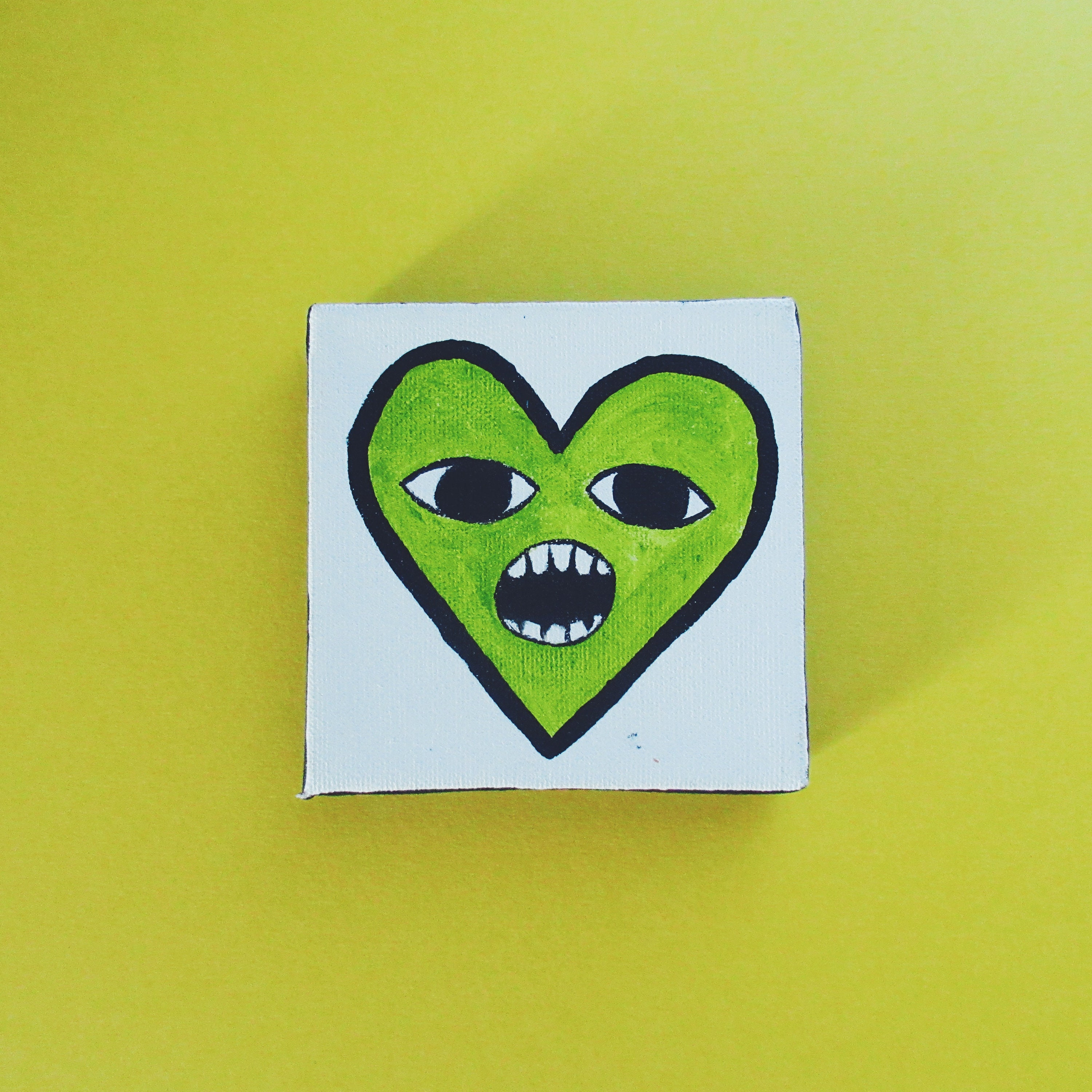 Green Heart Painting Cute Heart Valentine\' Day Heart