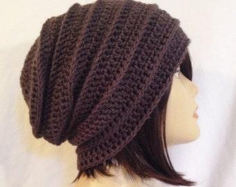 Crochet Hat Pattern, Crochet Pattern,PDF Digital download,Basic slouch pattern,slouchy,beanie,hat,cap,long beanie,Fit's Teens and adults