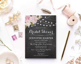 Bridal Shower Invitation Template, DIY Bridal Shower Invite, Cheap Invitation, Rustic Invitation, INSTANT Download PDF Template #CL104