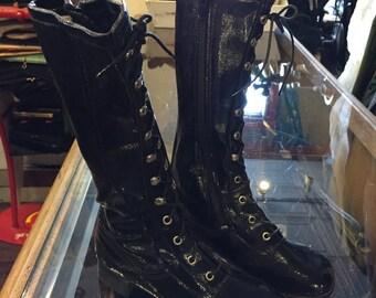 Deadstock vinyl GO-GO boots girls KIDS sizes  11-12-1-2-4