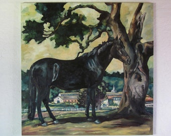 Equine Oil Painting Clarence