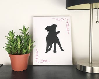 Dog Sign | Dog Wall Decor | Dog Art Print | Dog Decor | Lab Silhouette Canvas | Canvas Painting | Dog Lover Gift | Housewarming Gift