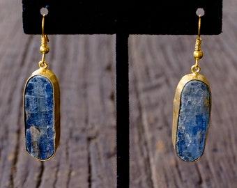Gemstone earrings with Kyanite