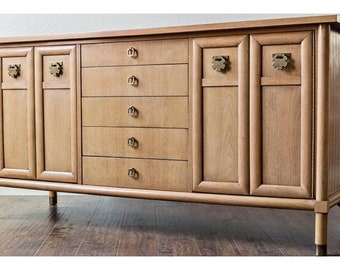 Dresser Cabinet Mid Century Modern American of Martinsville Tv Stand Chinoiserie Chest of Drawers Asian Media Console CUSTOM PAINT Avail