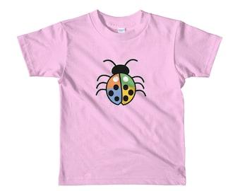 Toddler Colored Lucky Ladybug Short sleeve kids t-shirt