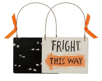Fright This Way Ornament