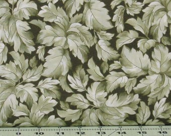 Green Tone on Tone Leaves Cotton Quilt Fabric Blender, Gentle Breeze by Maywood Studios, Fat Quarter, Yardage, MAS8514-G