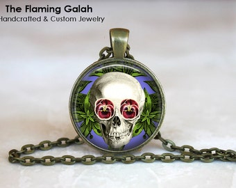 SKULL Pendant •  Anatomy Jewelry •  Gothic •  Day of The Dead • Gift Under 20 • Made in Australia (P0503)