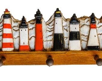 Lighthouse Decor Coat Rack