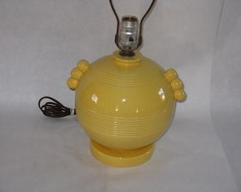 Vintage ceramic yellow table lamp Fiestaware?