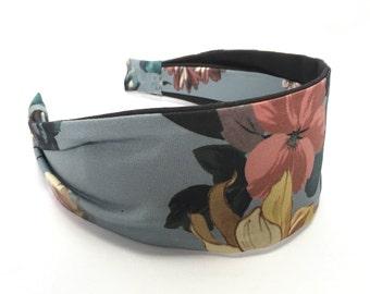 Flower Festival, wide fabric headband, women's headband, gift for her, aliceband