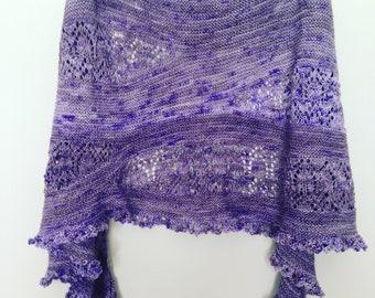 Merino Wool Lilac Wrap