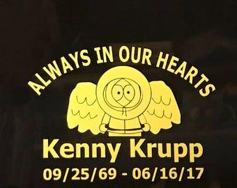 Kenny Krupp Memorial Outdoor Vinyl Decal