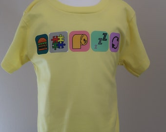 Toddler 2T 3T 4T 5T App Icons shirt