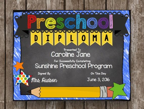 50  off sale preschool diploma graduation editable